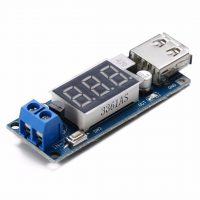 Step-down měnič DC4.5-40V na 5V/2A USB LED voltmetr