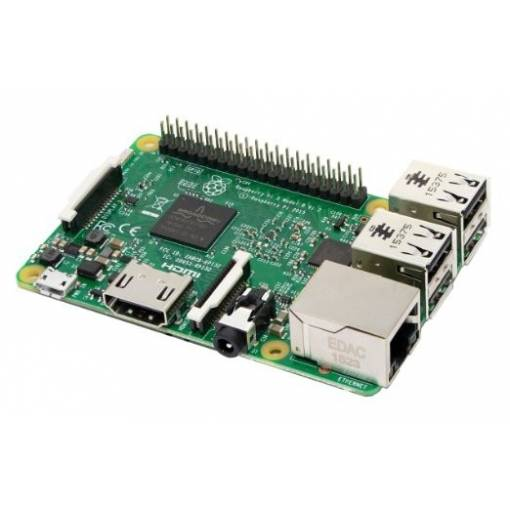 Foto - Raspberry Pi 3 Model B Quad Core 1.2 GHz 64bit CPU, 1GB RAM, WiFi, Bluetooth 4.1