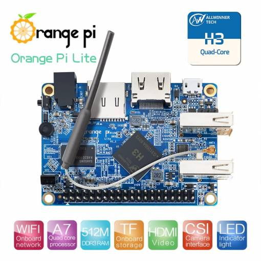 Foto - Orange Pi Lite H3 Quad-core 1.2GHz, WIFI, 512M RAM Ubuntu Linux Android mini PC Raspberry Pi 2 Kompatibilní