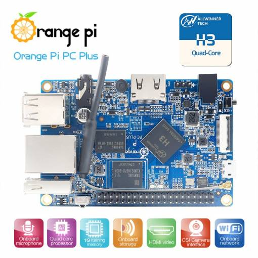 Foto - Orange Pi PC Plus H3 Quad-core 1.6GHz, WIFI, 1G RAM Ubuntu Linux Android mini PC Raspberry Pi 2 Kompatibilní
