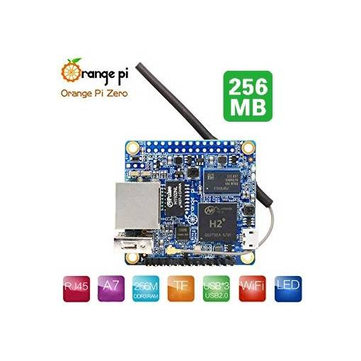 Foto - Orange Pi Zero Quad-Core 1.2Ghz 256MB RAM WIFI ETH