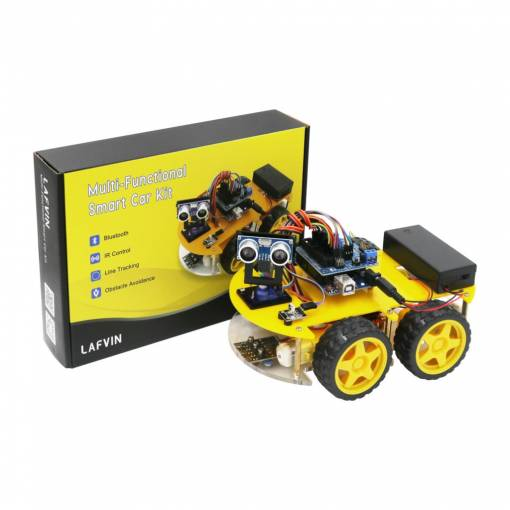 Foto - LAFVIN Smart Robot Car Kit 4WD s UNO R3