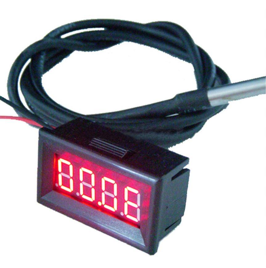 LED teploměr panel -55 ~ 125°C DS18B20 F/C