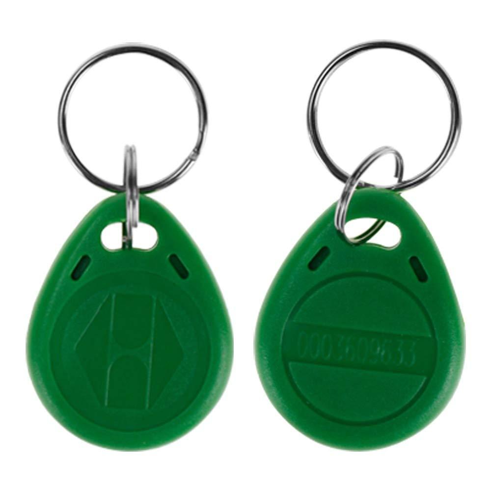 Klíčenka RFID přístupový čip přívěšek na klíče 125Khz zelený