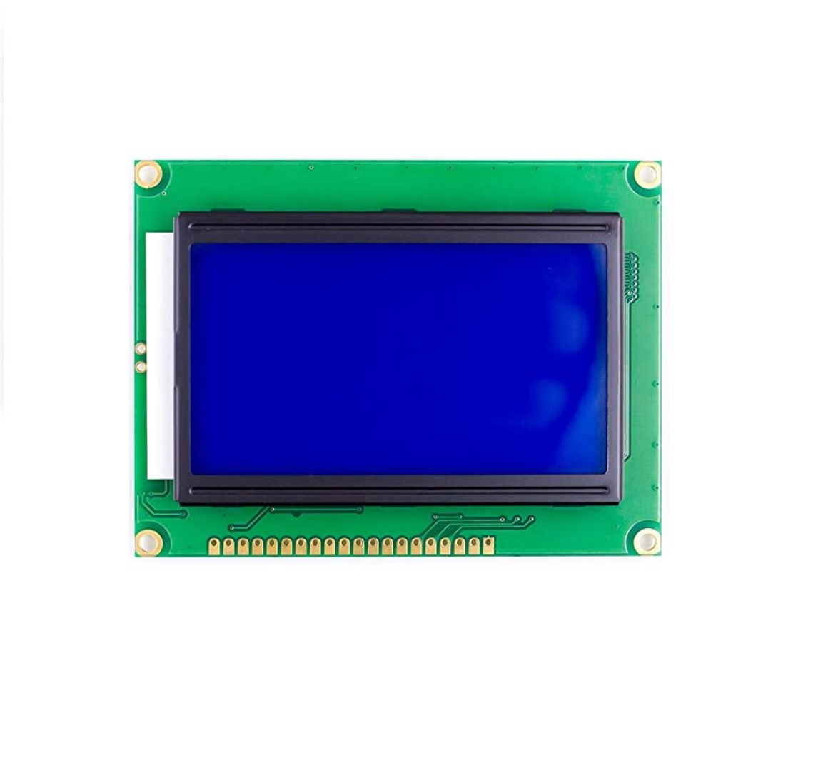 Graphic LCD display 128x64 blue backlight | arduino-shop cz