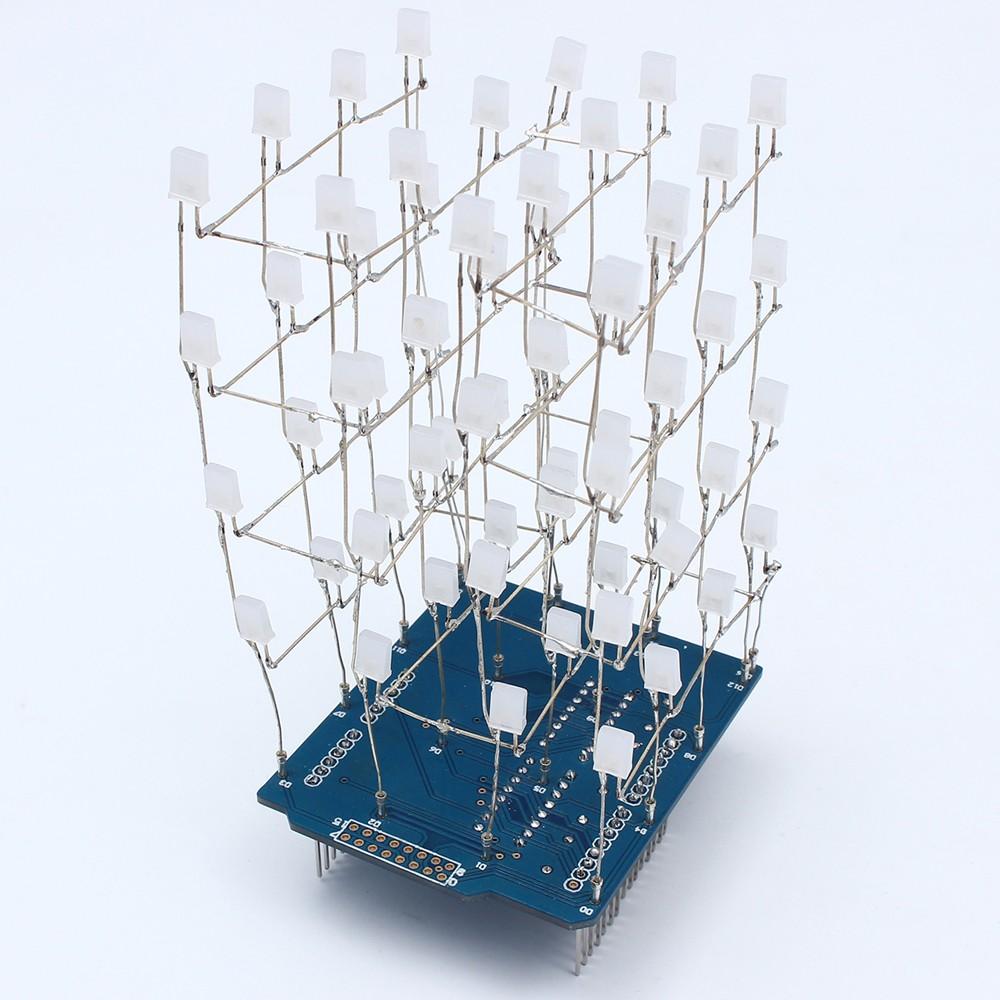 Arduino 4x4x4 3D LED kostka shield