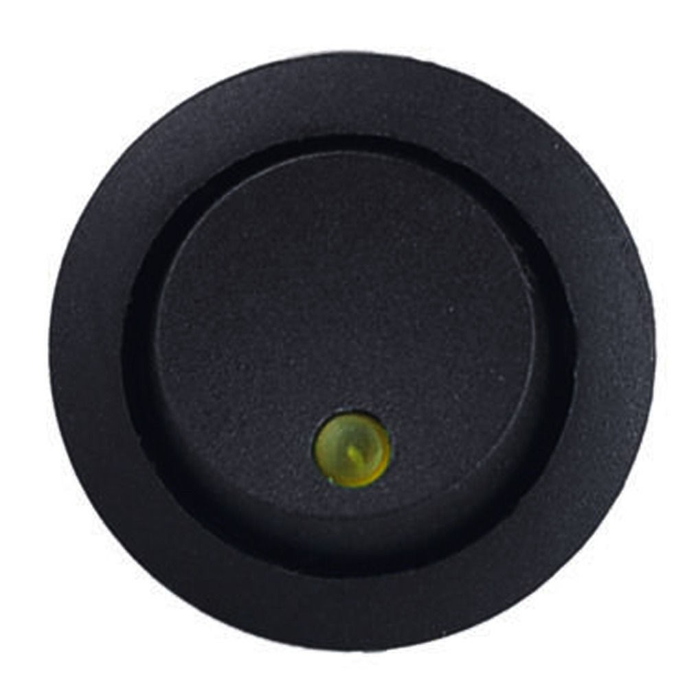 Přepínač kolébkový LED dioda žlutá