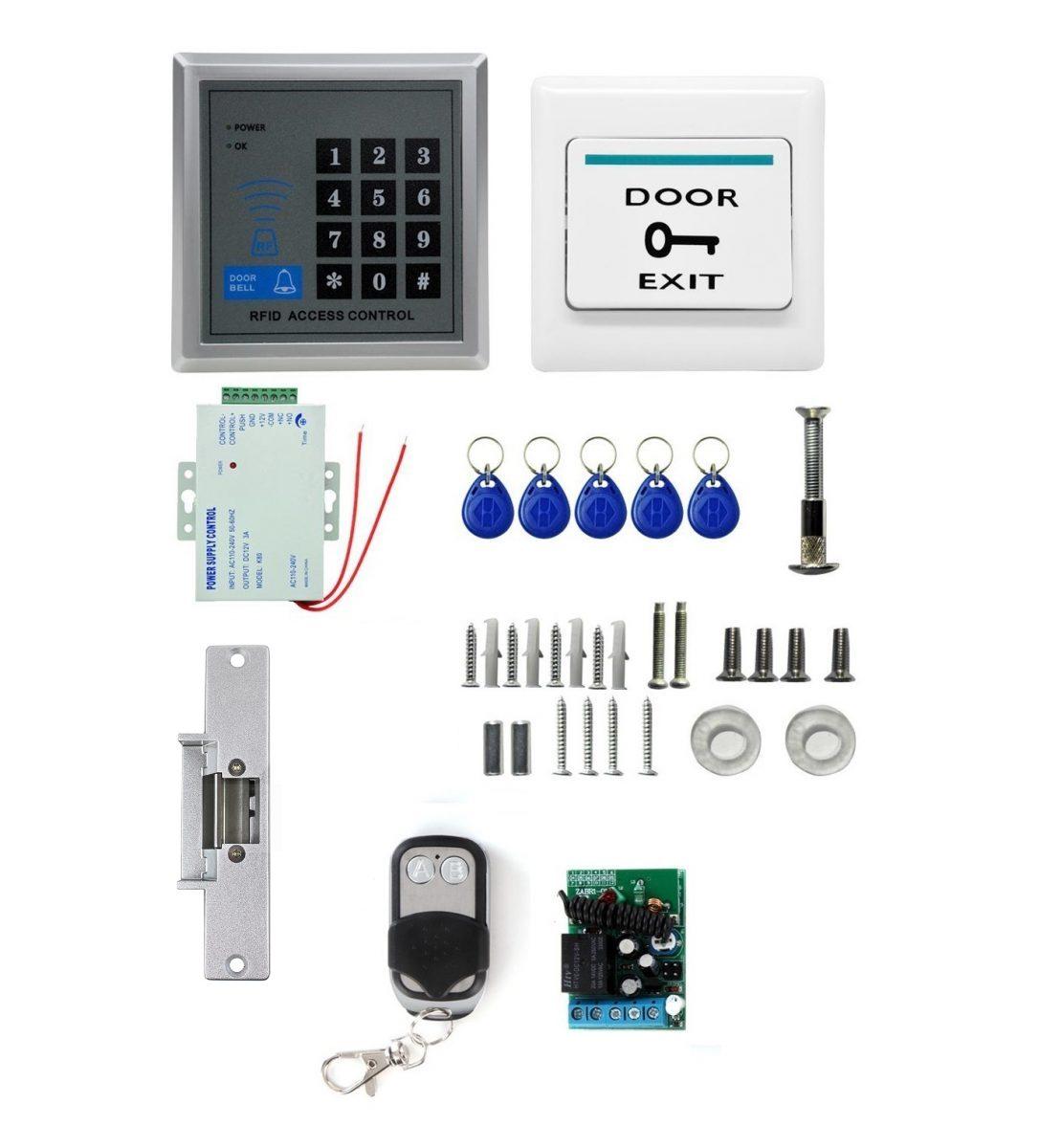 Elektrické ovládání dveří Kompletní set Zámek RFID 125KHz