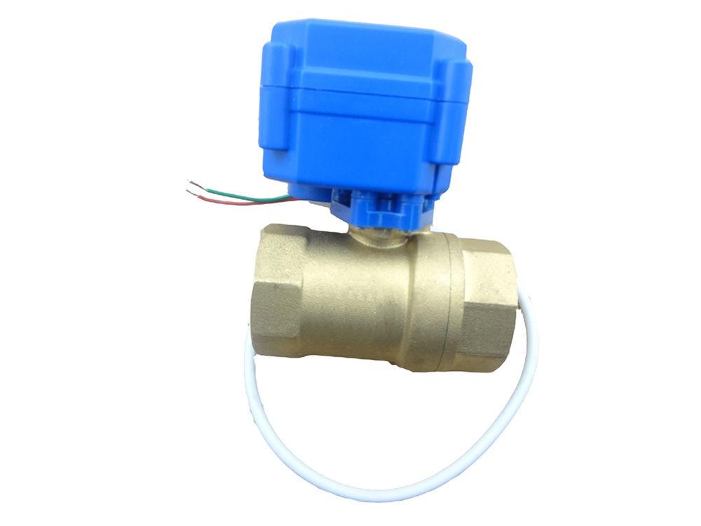 """Motorizovaný kulový ventil G3/4"""" DN20 12VDC CR04 samozavírací"""