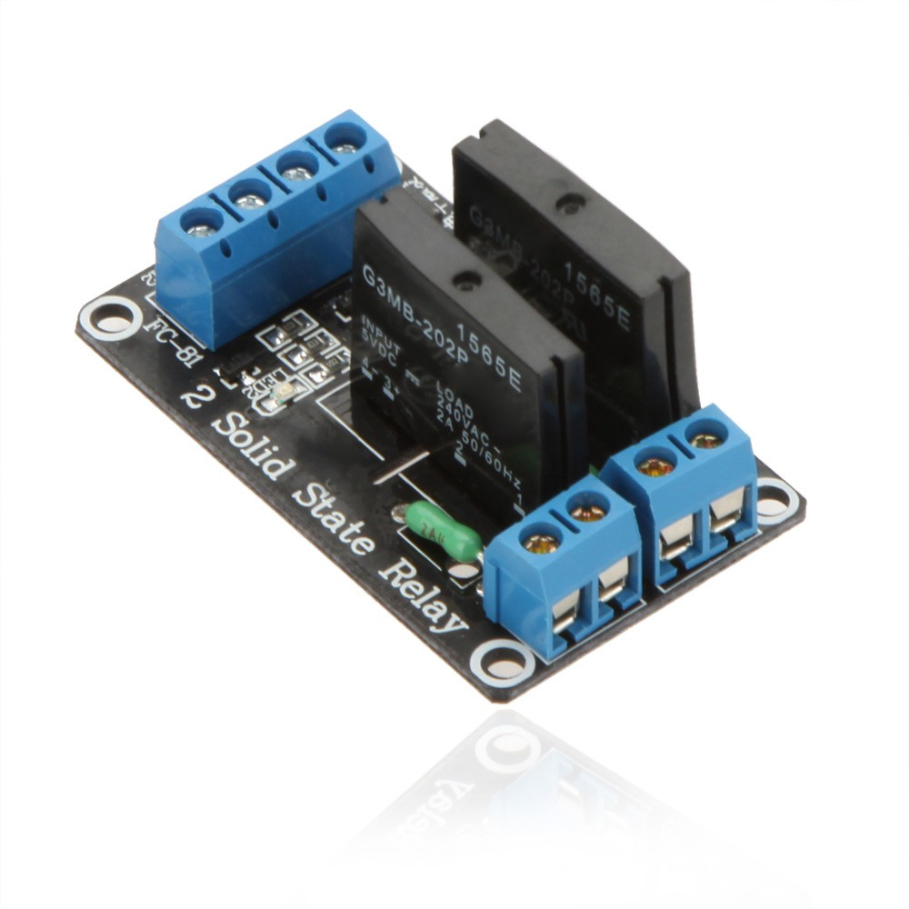 Ssr Relay Module 2 Channels 5vdc 250vac Omron G3mb 202p Solid State Basic Of For Arduino