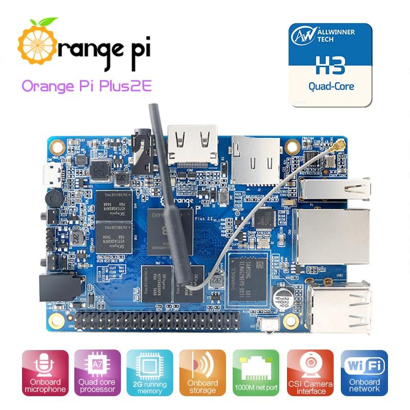 Orange Pi Plus2E H3 Quad-core 1.6GHz, 2G RAM, 16G FLASH, GIGABIT ETH, Ubuntu Linux Android