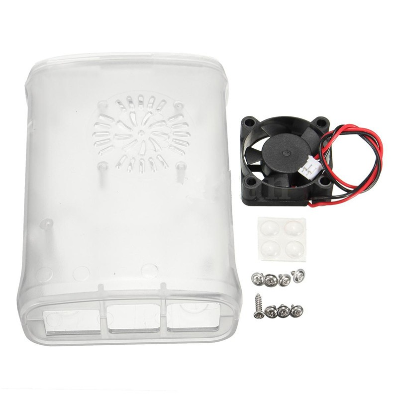 Case Raspberry Pi s Ventilátorem ABS pro Raspberry Pi 3 2 Model B+