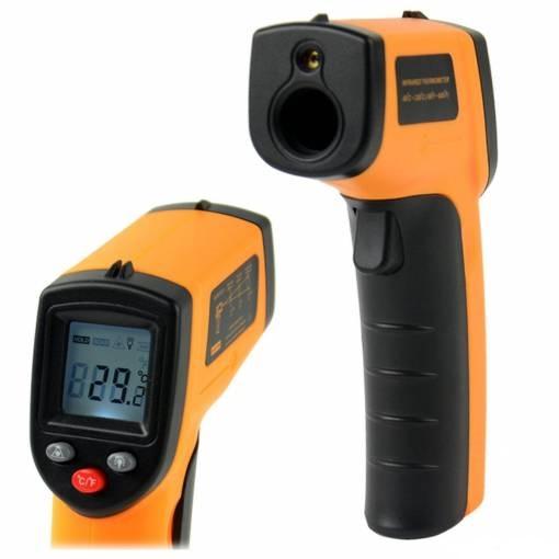 Bezkontaktní teploměr - digitální, laserový, infračervený GM320, -50~380°C