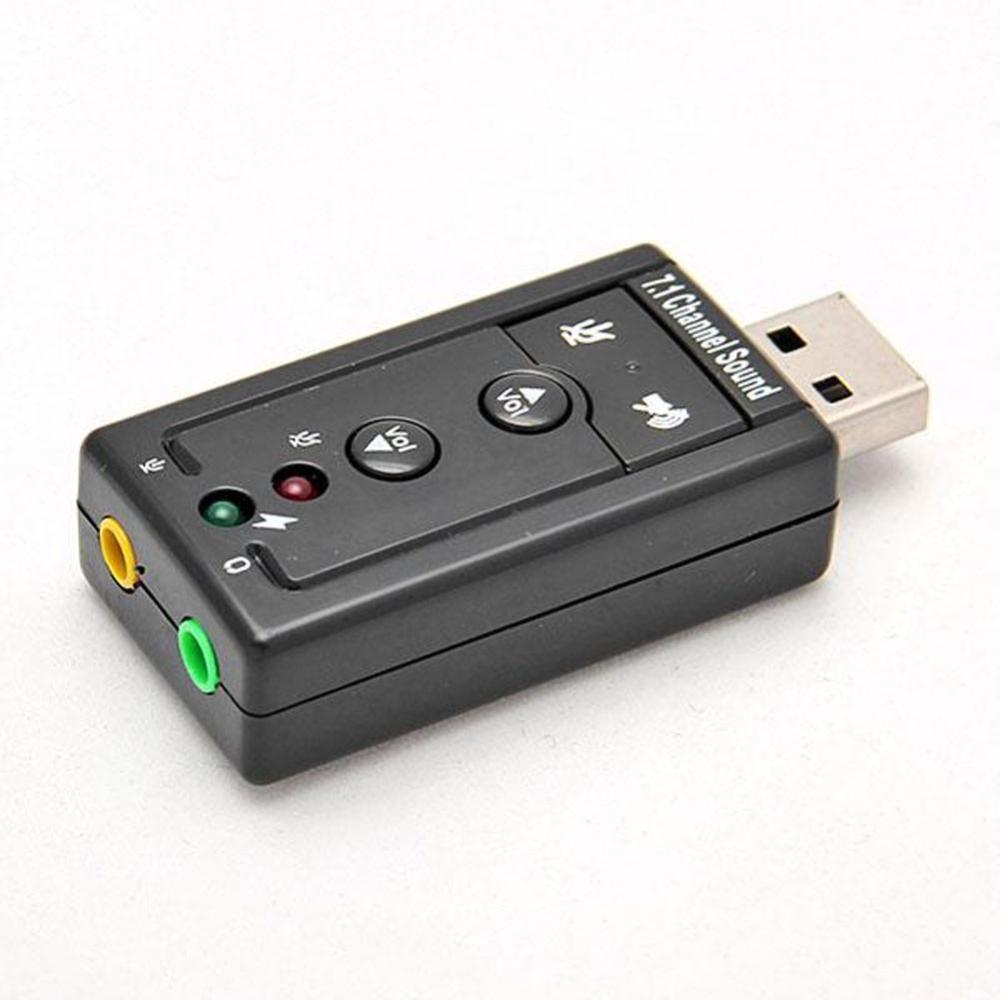 Mini USB zvukový adaptér 7.1 kanálů pro PC a notebook