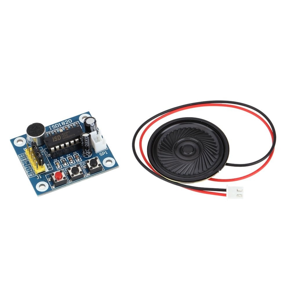 A Recording Module And The Playback Of Audio With Speaker Microphone Circuit Isd1820