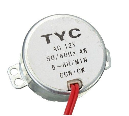 Asynchronní motor 12 VAC 5-6RPM TYC-50