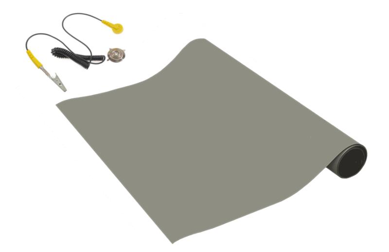 Antistatická podložka 600x400mm se zemnícím bodem