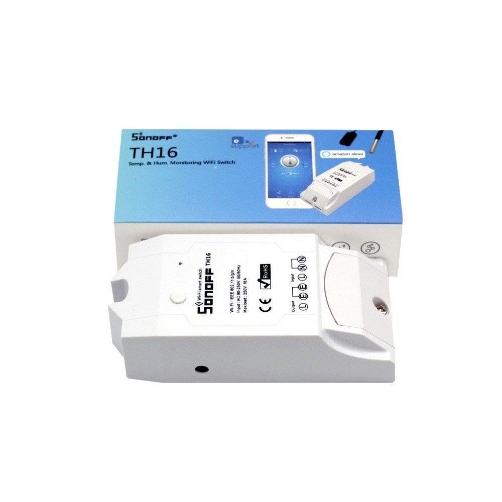 Sonoff TH16 WiFi spínač s možností měření teploty a vlhkosti
