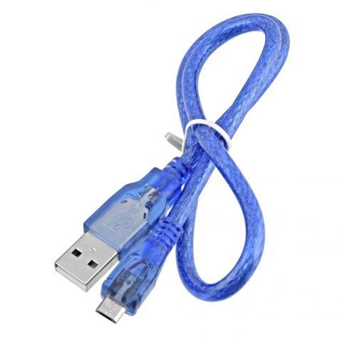 Kabel USB 2.0 A - micro USB 0.5m - modrý