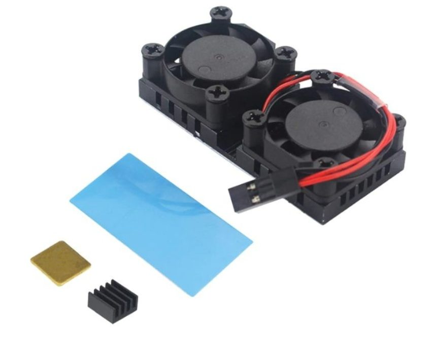 Duální ventilátor pro Raspberry Pi 3B+/4B