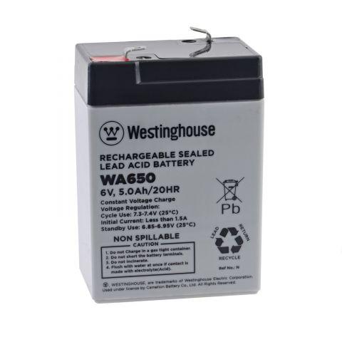 Olověný akumulátor Westinghouse WA650 6V/5Ah F1
