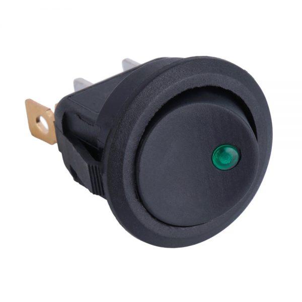 Přepínač kolébkový LED dioda zelená