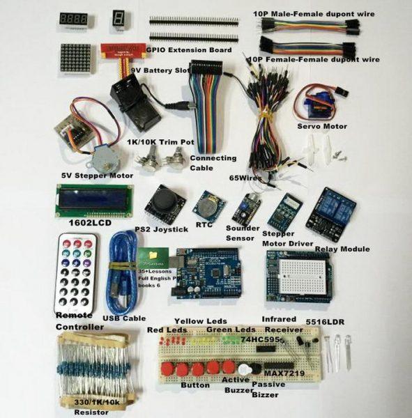 Ultimate UNO R3 Starter Kit pro Arduino 1602 LCD Servo Motor Relé RTC LED