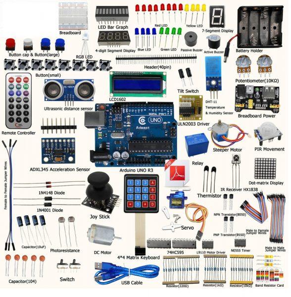 Arduino Starter Kit 37 Experimentů 50 Druhů Učebnice 140 Stran