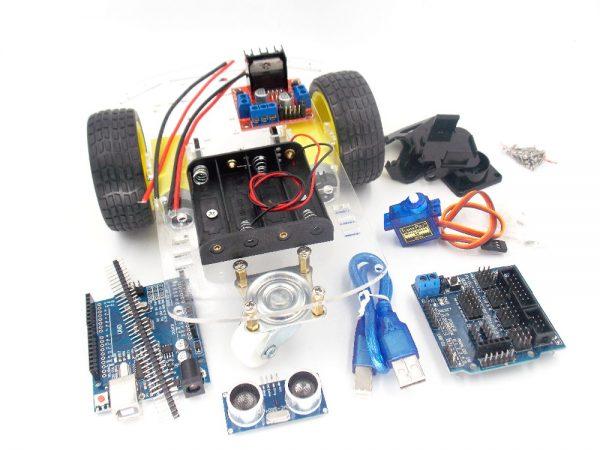Inteligentní Robotický Podvozek 2WD Včetně Elektroniky