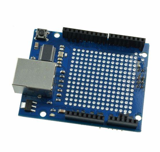 Ethernet Shield ENC28J60 s Univerzální Částí DPS
