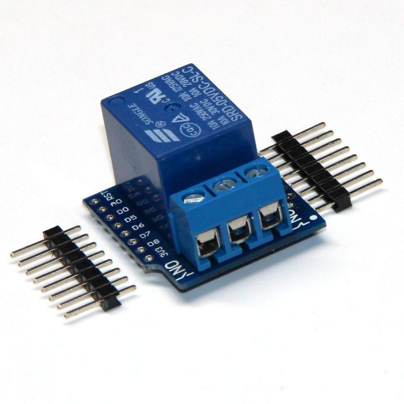 Relé shield pro vývojovou desku arduino wemos d mini